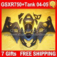 7Gifts tanque negro + Flat para SUZUKI GSXR 750 04 05 GSX R750 2004 2005 3Q5373 GSX-R750 Cuerpo GSXR750 K4 GSXR-750 04-05 Mate kit de carenado negro