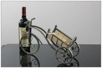 bar furnishings - 2pcs Creative home bar wine bottle holder home decor Supply of iron tricycle Wine Wine Wine Wine Tropsch process furnishings F0548