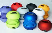 Wholesale DD Free DHL Brand New in Original Cylinder Box XMI X MINI XMINI Portable Hamburger Capsule Mini Speaker Speakers II FOR Tablet MP3 PC