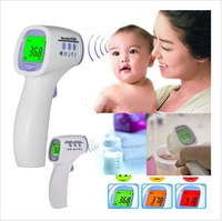 Wholesale High Quality Baby Adult Digital Thermometer Multi Function Non contact Infrared Forehead Body Thermo meter Gun LCD Three color