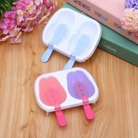 Cheap Brand New 2 PCS DIY Ice Cream Pop Mold Frozen Ice-lolly Snowman Icepop Block Maker High quality PP Free Shipping