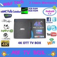 Wholesale Cheapest Quad Core M8 Smart TV Box with Dual Wifi KODI Fully Loaded Bluetooth M8 Amlogic A802 Quad Core GB GB M8 Android TV Box