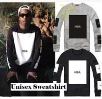 blank hoodie - Autumn Winter HBA sweatshirt for unisex HOOD BY AIR HBA BLANK sweatshirts hiphop hoodie clothing color