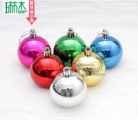 Wholesale Mixed Colorful Merry Christmas cm Electroplate Merry Christmas Tree Ornaments Decoration Balls