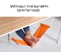 Wholesale 2015 Creative FUUT Desk Feet Hammock Portable Mini Relaxing Foot Hammock Orange