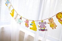banner music - 2 Meter animal music cartoon pennants Paper Flag Party Decoration Banner Bunting for Children kids