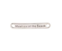 Wholesale 10PCS Antiqued Silver Meet me at the Beach Connectors Links