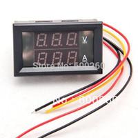 Wholesale DC V A Dual LED Digital Volt meter Ammete Voltage AMP Power order lt no tracking