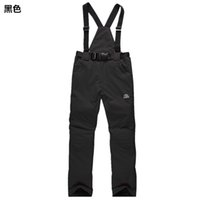 Wholesale Outdoor skiing pants male Women single skiing suspenders trousers winter thermal thickening
