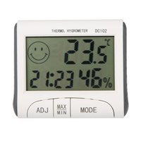 Wholesale LCD Digital Thermometer Hygrometer Temperature Humidity Meter Clock w Magnetic DC102