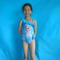 baby swimwear - frozen princess kids swimwear girls frozen picture print baby girl swimming clothing one piece swimwear hot sale with good quality