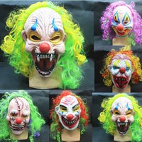 Halloween masks clown - 2015 New Latex Halloween Funny Halloween clown grimace Mask Horror Scary Party Mask Terror Masquerade Masks Children Adult