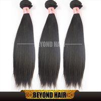 machine eurasian hair - 3 bundles Natural Straight Hair A Grade Hair Weft Brazilian Malaysian Peruvian Indian Cambodian Eurasian Russian Virgin Straight Hair
