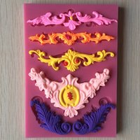 Wholesale Beautiful Flower shape Chocolate Candy Jello D Silicone Fondant Lace Mold Mould Cake Decoration Y021 A3