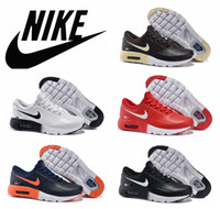 zero - NIKE AIR MAX ZERO QS genuine leather winter running shoes all white black red Maxes shoes waterproof brown blue athletic shoes size