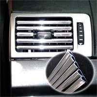 air conditioner audi - 4M U Style DIY Car Interior Air Conditioner Outlet Vent Grille Chrome Decoration Strip Silvery drop shipping