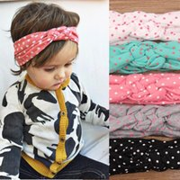 head head tie - Cute Baby Girls Toddler Knot Headbands Braided Headwrap Polka Dot Cross Knot Baby Turban Tie Knot Head wrap