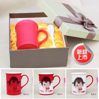 Wholesale Lee Min Ho Kim Hyun soo color cup custom photo personalized Valentine s Day gift ideas diy custom glass Mark