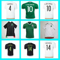 slim away - 2015 Mexico Soccer Jersey Shirt CHICHARITO G DOS SANTOS C VELA Copa America Cup Home Away