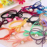 Cheap TS0791 explosion models Korean high elastic bow embellishment beautiful handmade pearl hair rope (in the shop free postage)