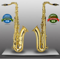 Wholesale Free FAST Shipping High Quality Electrophoresis gold B Flat Tenor Saxphone Professional Saxphone Hand Carved Flower Saxphone