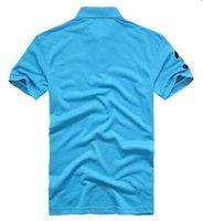men's polo shirts - PLus size S XL SALE polo ralph Men s T shirt multi color shirt slim polo shirt lapel shirt short sleeve T shirt mix order