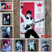antique metal paint - 20 cm Metal Tin Sign Elvis elvis presley portrait Retro vintage Classic Tin Bar pub home Wall Decor Retro Tin Poster