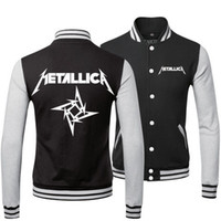 Wholesale heavy metal METALLICA BAND SPRING FALL WINTER Classic Jacket lover s Sweatshirt baseball uniform for MAN AND WOMAN
