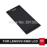 Cheap 100% Original LCD Display and touch Screen digitizer FOR Lenovo K900 Assembly with frame bezel