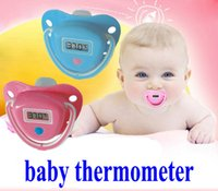 best baby pacifiers - Infant Nipple Thermometer Baby Digital Dummy Pacifier Thermometer Soother Trendy Baby Soft Safe Nipple like Thermometer Best Price for Sale