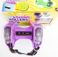 Wholesale Sporting Pulley Light Flashing Wheels Heel Skate Rollers Wheel Shoe Heelys Heelies Wheeled shoes Flashing Roller COLORS