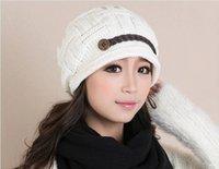 Wholesale Braided Women Warm Rageared Baggy Winter Beanie Knit Crochet Ski Hat Cap N47