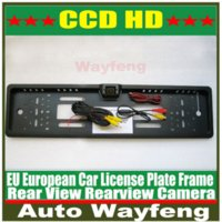 Wholesale Car License Plate Frame HD CCD Car Rear View Camera Reverse backup Camera rearview parking Waterproof Camera EU European Camera M36945