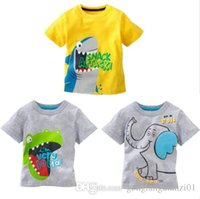 Cheap Hot Sell! Cute Toddler Baby Kids Boys Summer Catroon Tees Tops T-shirt Age 1-6 Years