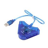 Wholesale 2016 Joypad Game USB Dual Player Converter Adapter Cable For PS2 Attractive Dual Playstation PC USB Game Controller