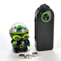 alien ufo toys - High tech unique Remote control Infrared RC Robot Electronic Toys Mechanical UFO flash and music aliens Controller toy kids gift