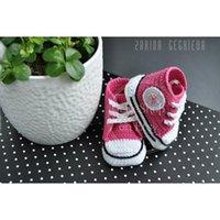 baby converse shoes - Crochet baby shoes unique booties baby girl pink crochet converse shoes