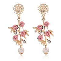 american baroque - European and American Baroque flower branch earrings jewelry women jewelry