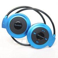 Wholesale Bluetooth Wireless Headset Sports Earphone Stereo Music F Mp3 iPhone LG Samsung Foldable Blue