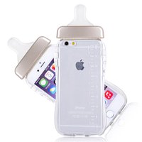 baby milk - Cute D Cartoon Baby Nipple Milk Bottle TPU Case Cover For iPhone quot With string New Arriival
