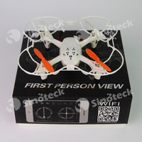 Wholesale RC Helicopter Skytech F807W WIFI G CH Remote Control Axis Quadcopter Drone Aircraft Toy Night Vision Free DHL