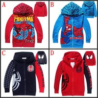 Cheap Movie Spiderman Boys hoodies Kids Pure cotton Cardigan Long sleeve Hooded Jacket Childrens boy Spring Autumn Fashion Cartoon Coat Clothes