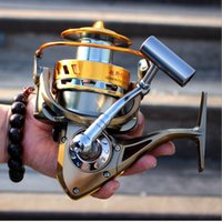 Wholesale 8000 Far Distance Spinning Casting Fishing Reel Bait Saltwater Boat Fishing Fixed Spool Reel Coil Full Metal Spool