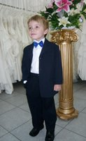 baby wedding attire - 2016 New Blue Baby Boy Suit Wedding Dress Three Buttons Boys Attire Groom Tuxedos Pieces With Tie