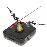 Wholesale Brand New Black Quartz Clock Movement Mechanism Red Black Hands Repair DIY Part Tool Kits order lt no tracking