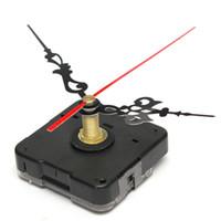 Precio de Relojes de cuarzo piezas-Marca nuevo negro cuarzo reloj movimiento mecanismo rojo negro manos reparación parte herramienta Kits DIY rastreo de orden$ 18no