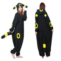 Wholesale Cosplay Costume Pokemon Umbreon Onesie Pajamas Kigurumi Jumpsuit Hoodies Adults Costumes For Halloween and Carnival