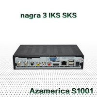 Wholesale Original Azamerica S1001 Azamerica S1005 Nagra3 STB For South America Built in IKS SKS Satellite Receiver