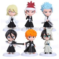 Wholesale 6pcs set Anime Bleach Ichigo Ulquiorra cifer Renji Ichimaru Gin Toushirou PVC Action Figures Toys Dolls