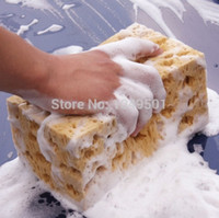 Wholesale Car wash Wear resistant Brown Soft Sponge Car Wash Cleaning Pad car washer Sponge